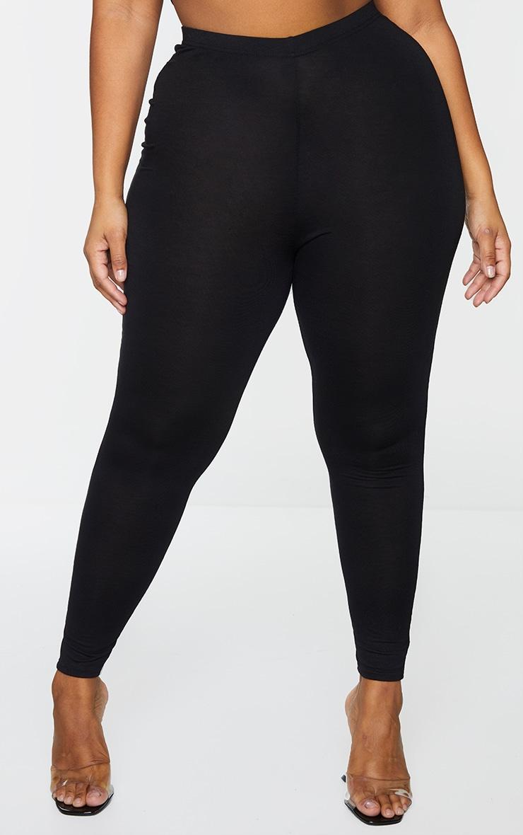 Plus Black and Grey Basic Jersey Legging 2 Pack 2