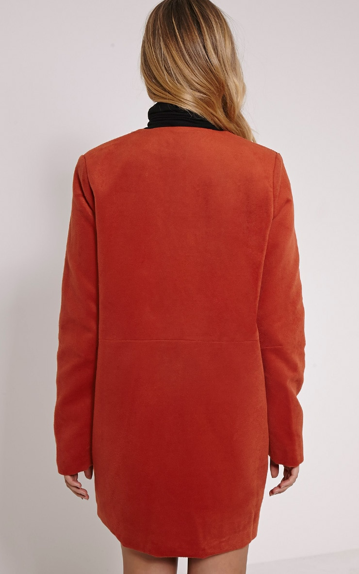 Louella Rust Double Oversized Coat 2