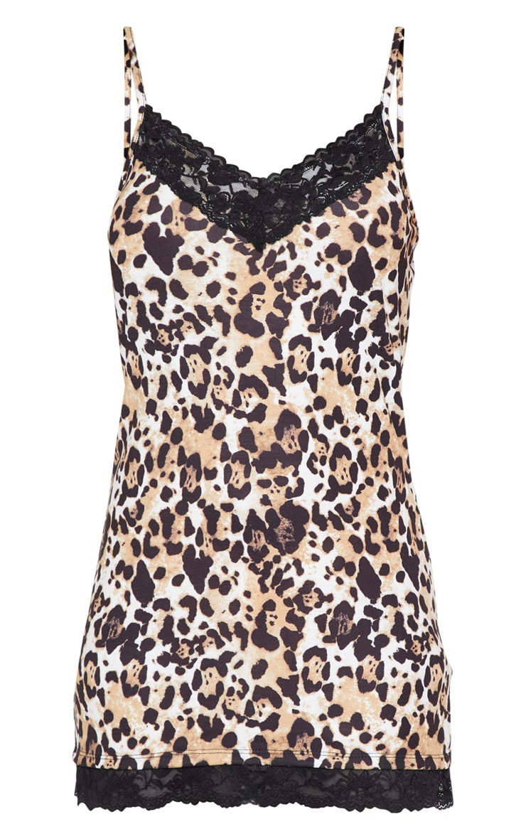 Leopard And Lace Slip Dress 3