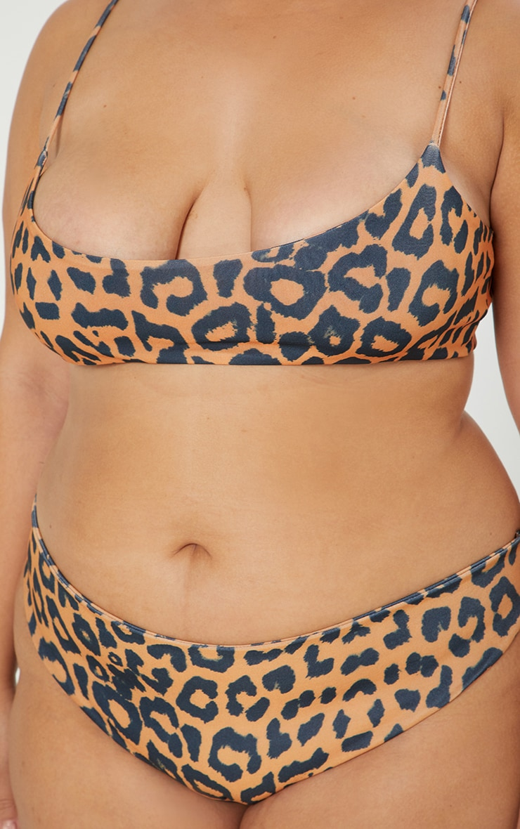 Plus Orange Cheetah Cheeky Bum Bikini Bottoms 6