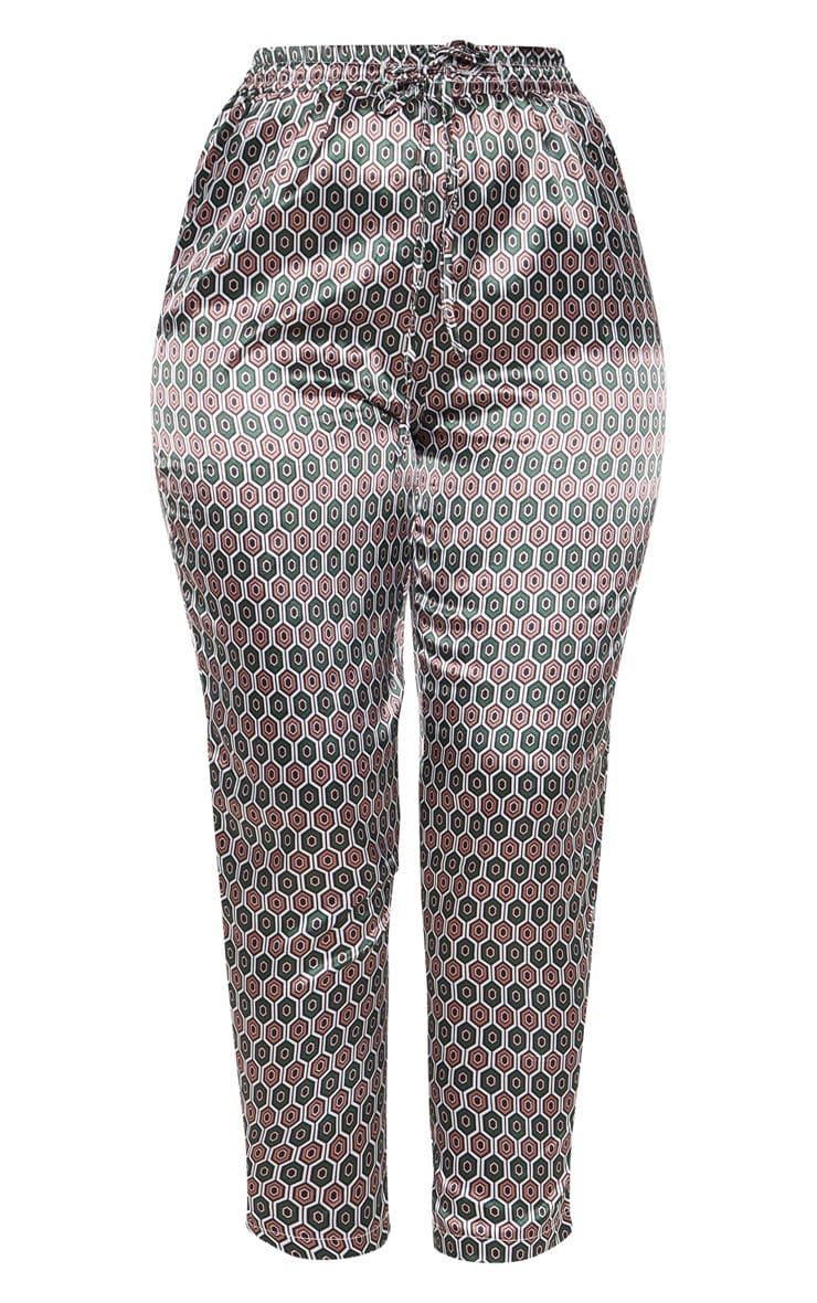 Brown Geo Print Cigarette Trouser 3