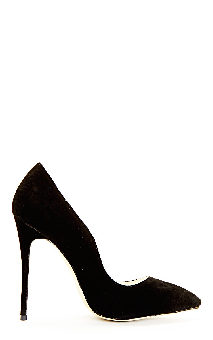 Sophie Black Suede Heeled Stiletto  5