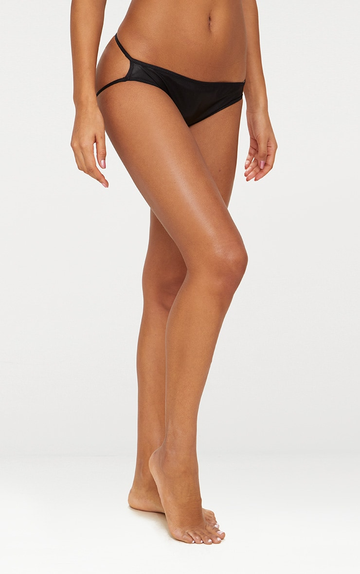 Black Caged Bow Back Knicker 2