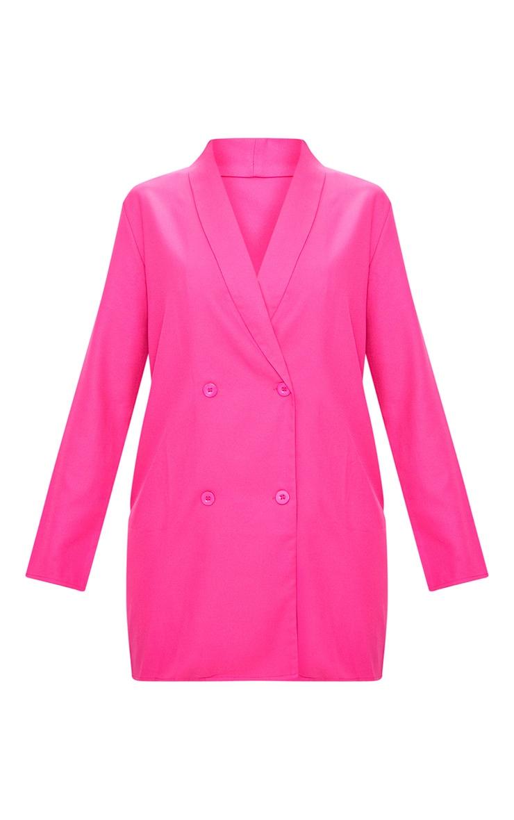 Fuchsia Oversized Blazer Shift Dress 3