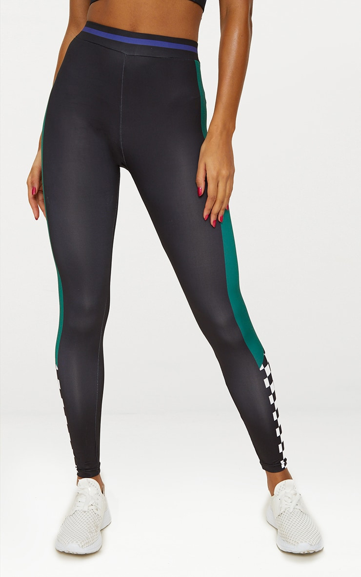 Black Motocross Sports Leggings 3
