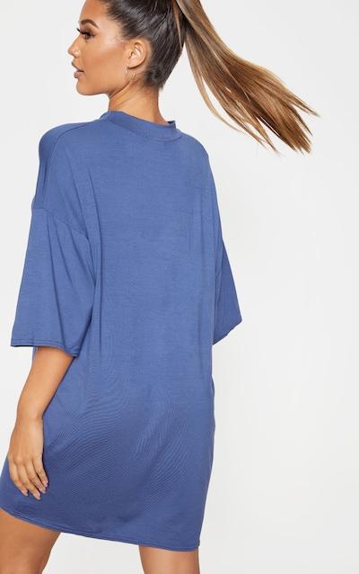 Midnight Blue Oversized Boyfriend T Shirt Dress