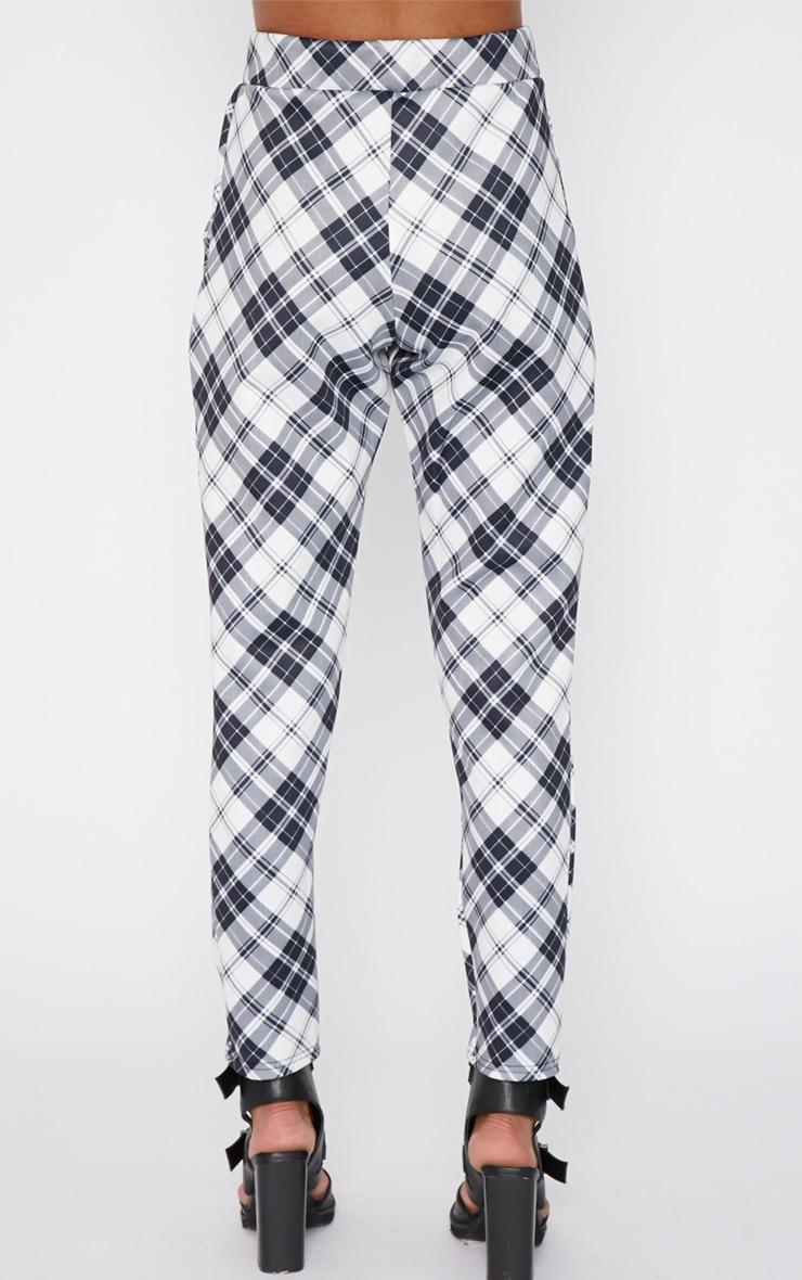 Riva Monochrome Tartan Trouser  4
