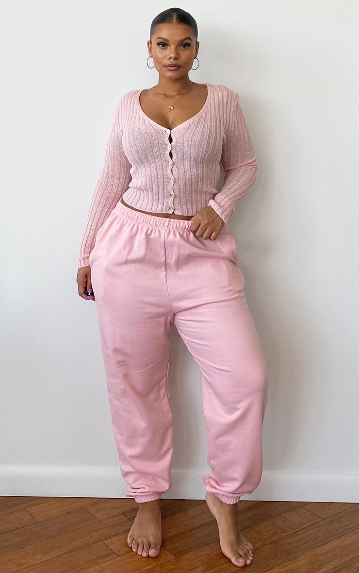 Plus Baby Pink Skinny Fit Cardigan 3