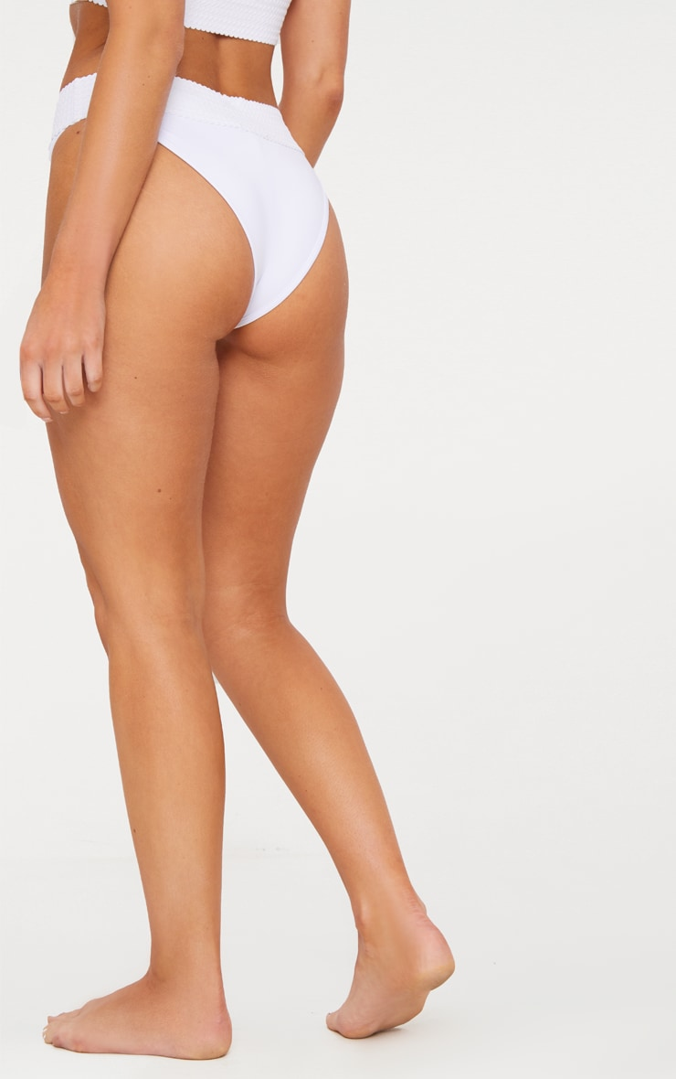 White Bandage Detail Bikini Bottom 3