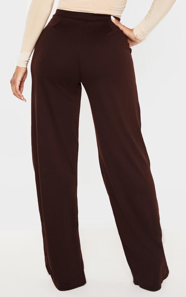 Shape Chocolate Brown Wide Leg Pants 4