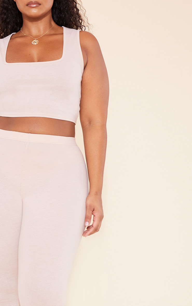 RECYCLED Plus Deep Nude Square Neck Crop Top 6