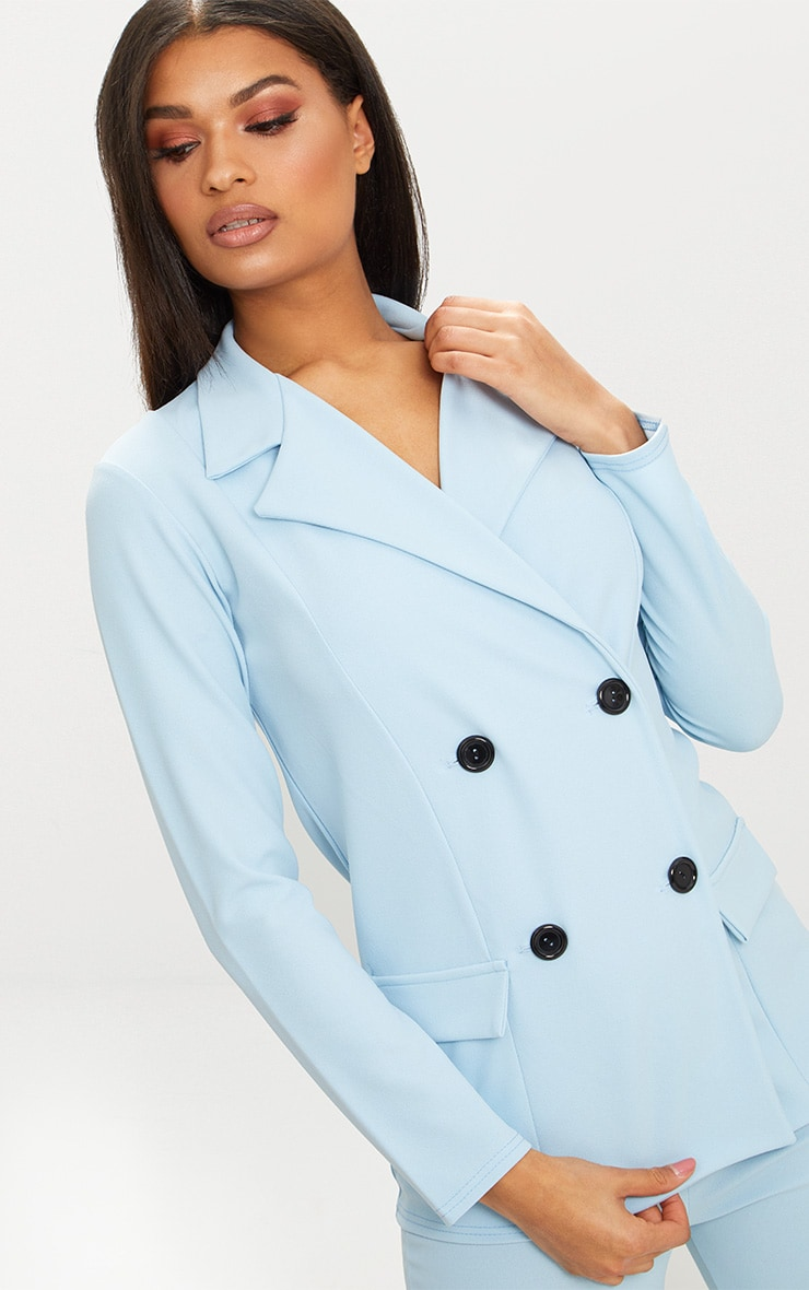Blue Double Breasted Blazer 4