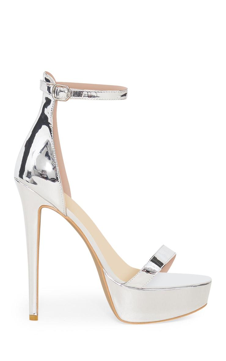 Silver Metallic Platform Sandal 3
