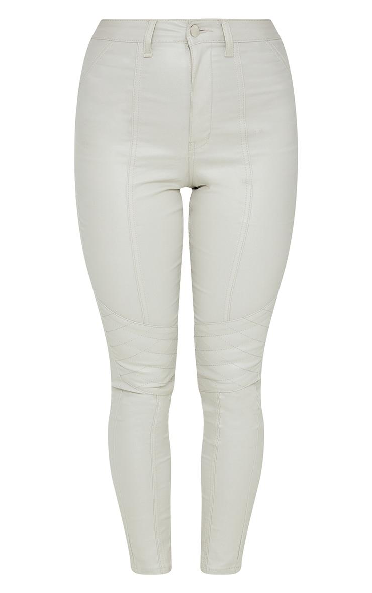 Stone Biker Coated Skinny Jeans 5