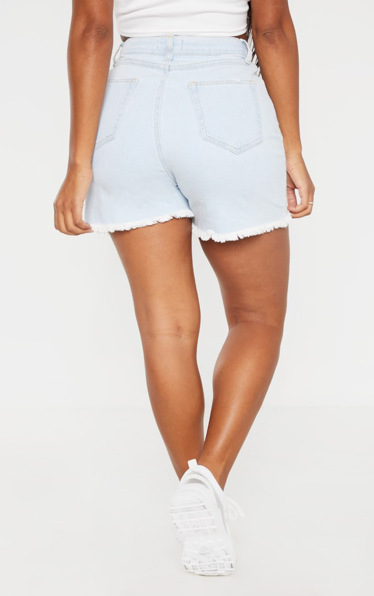 Shape Pale Blue High Waist Denim Shorts 4