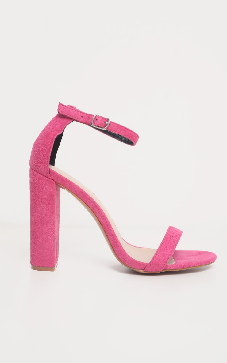 Fuchsia May Blocked Heel Sandal 4