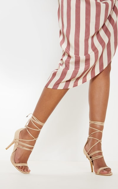 c102f0e68a42 Nude Strappy Heeled Sandal