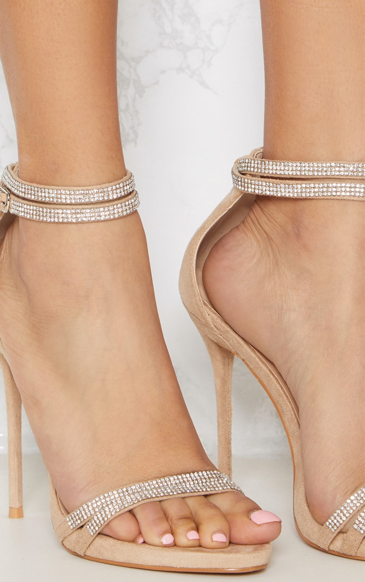 Nude Diamante Jewel Strappy Sandal 5