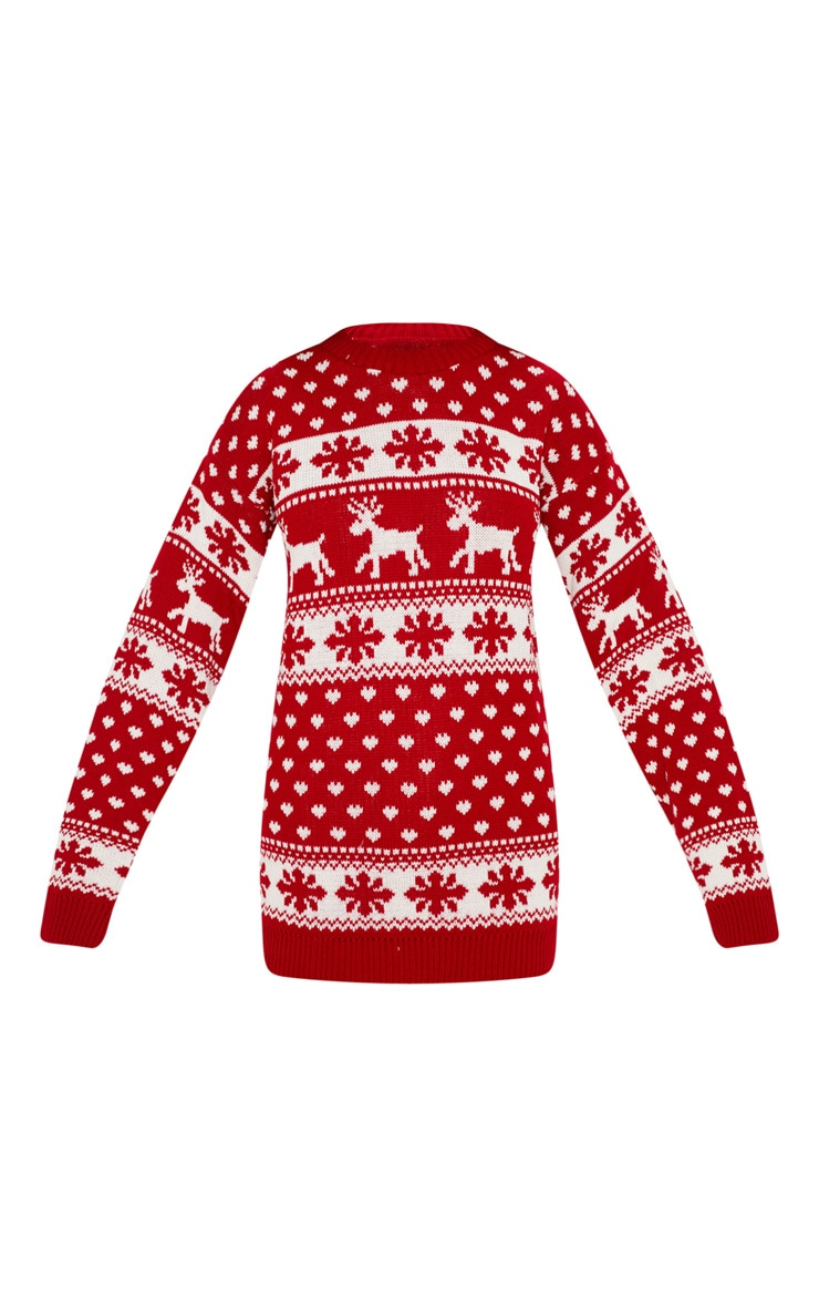 Red Fairisle Knitted Jumper 3