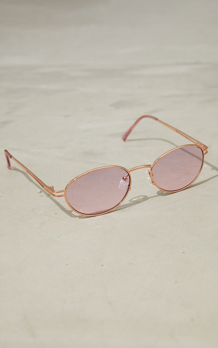 Jeepers Peepers Gold Roundframe Sunglasses 2