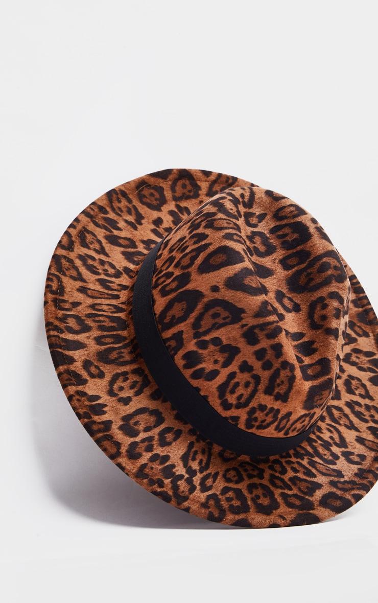 Leopard Fedora Hat 3