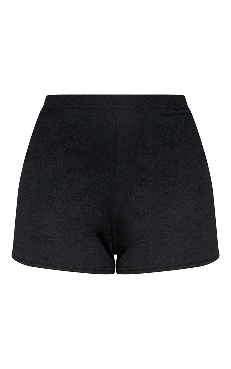 Black High Waisted Co-ord Shorts 3