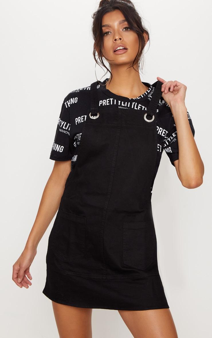 Black  Wash Pinafore Dress  4