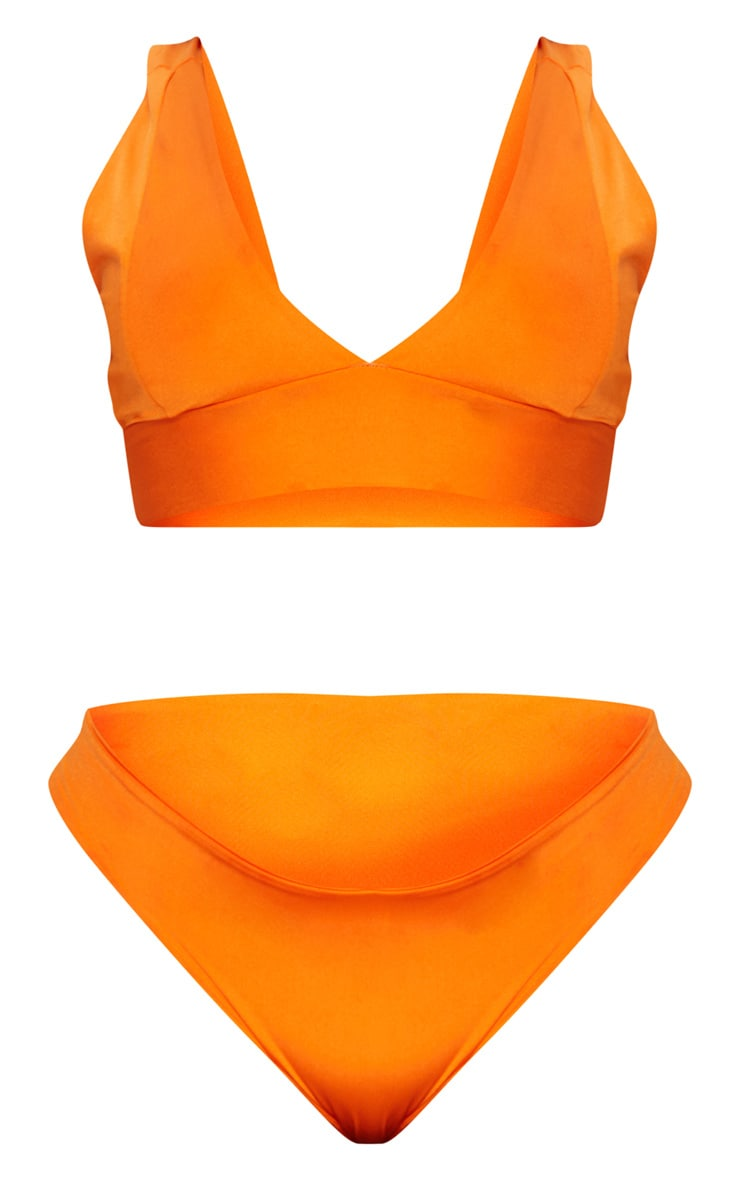 Plus Orange High Rise Bikini Set  6