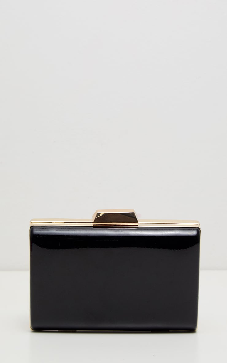 Black Patent Clutch Bag 2