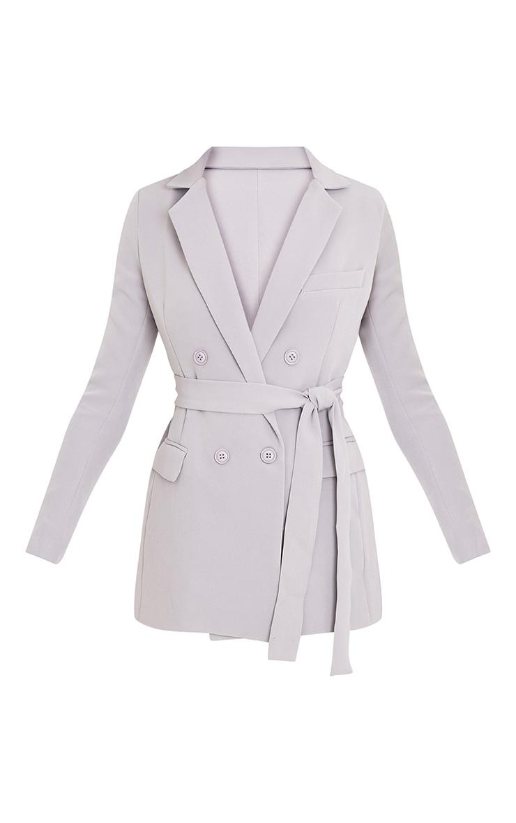 Rebecca blazer à ceinture gris clair 3