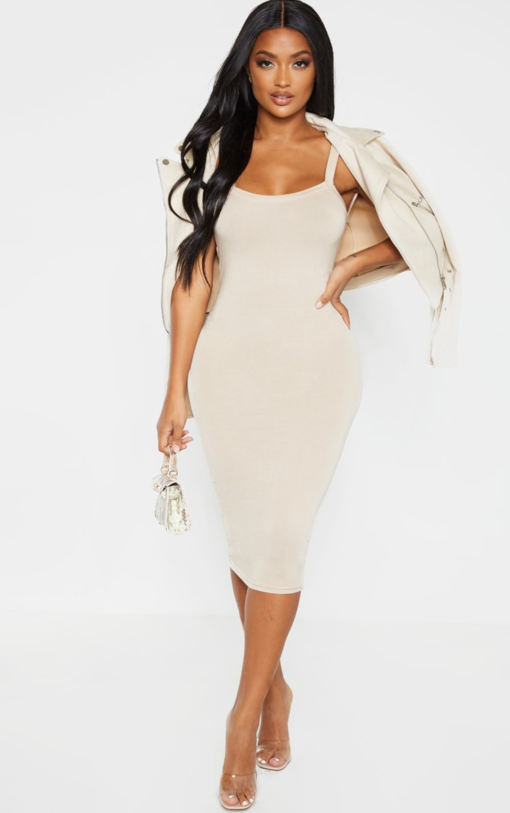 Shape Stone Jersey Scoop Back Midi Dress  4