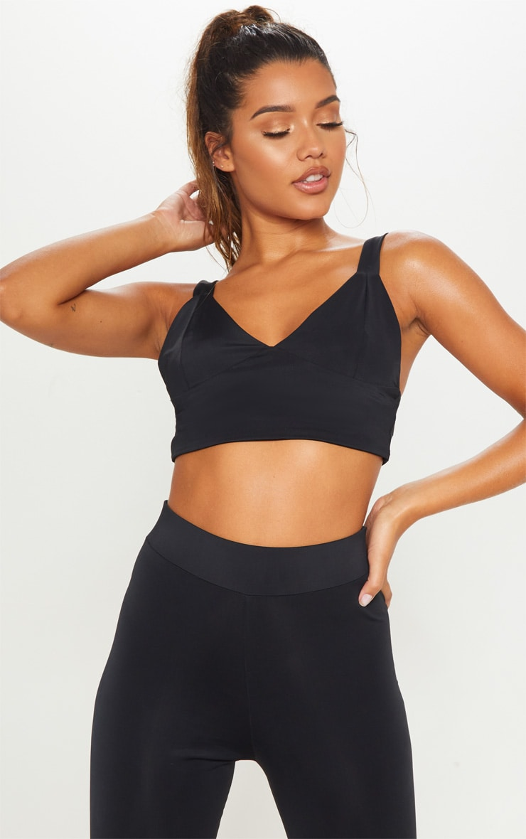 Black Basic Gym Bralet 1
