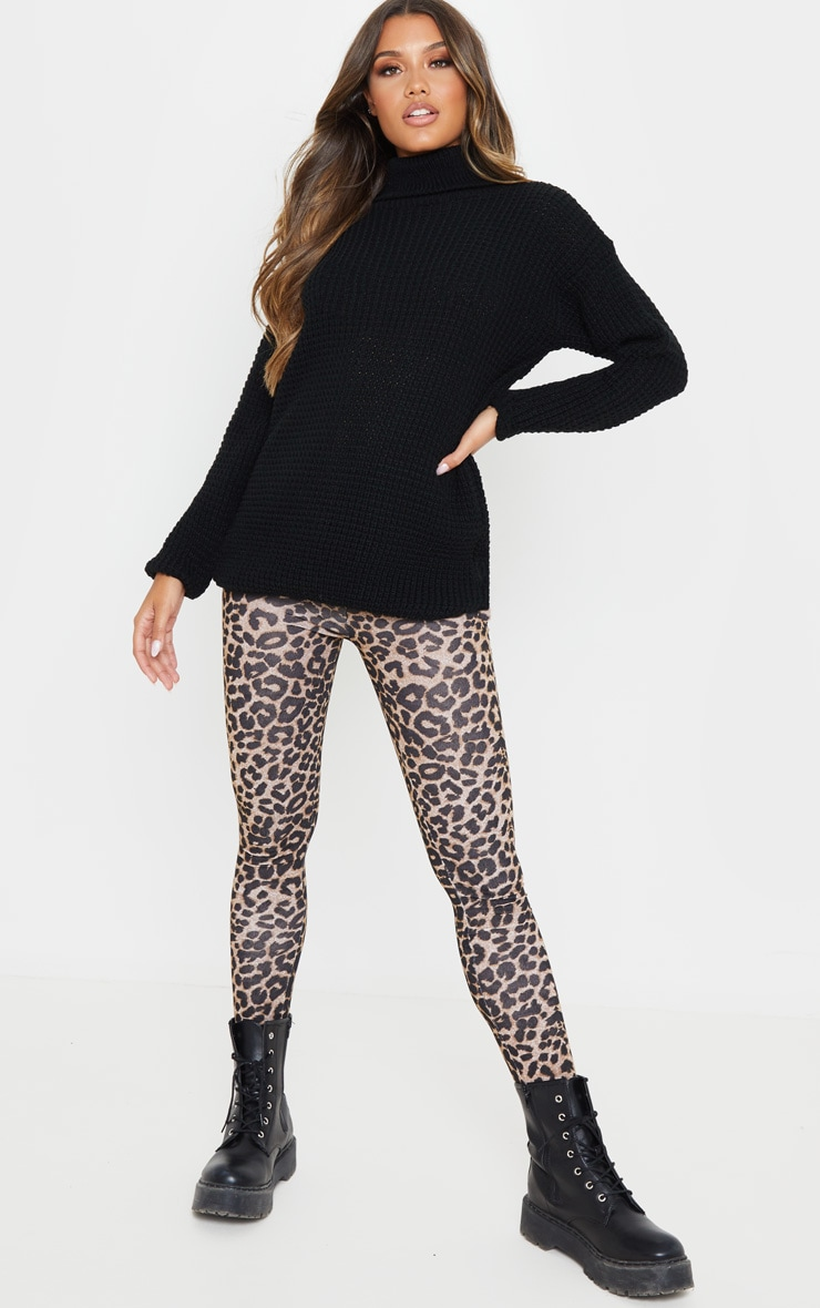 Brown Leopard Print Leggings 1