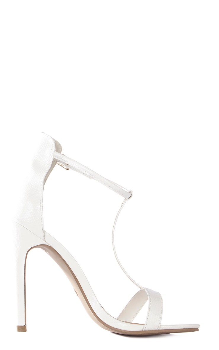 Jordan Cream Strappy T Bar Heeled Sandal 2