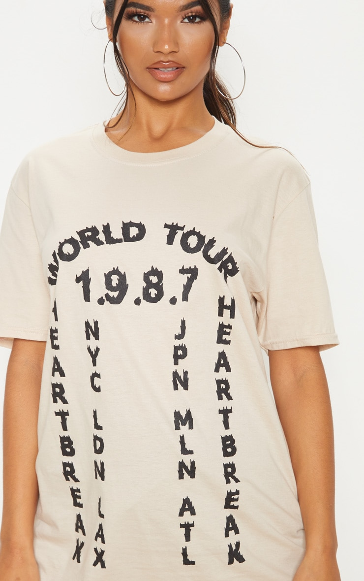 Sand World Tour 1987 Slogan T Shirt 5