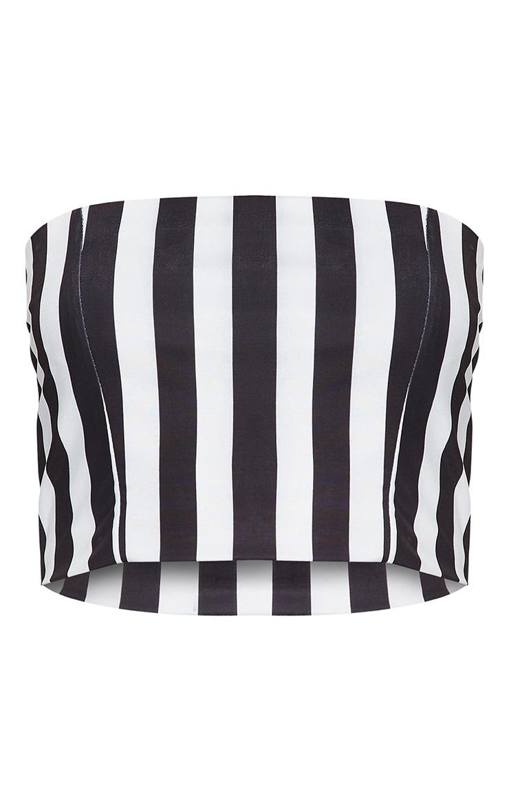 Monochrome Slinky Bandeau Crop Top  3