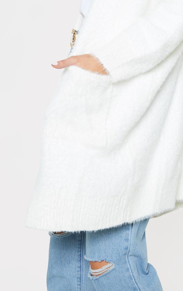 Cream Eyelash Knitted Cardigan 5