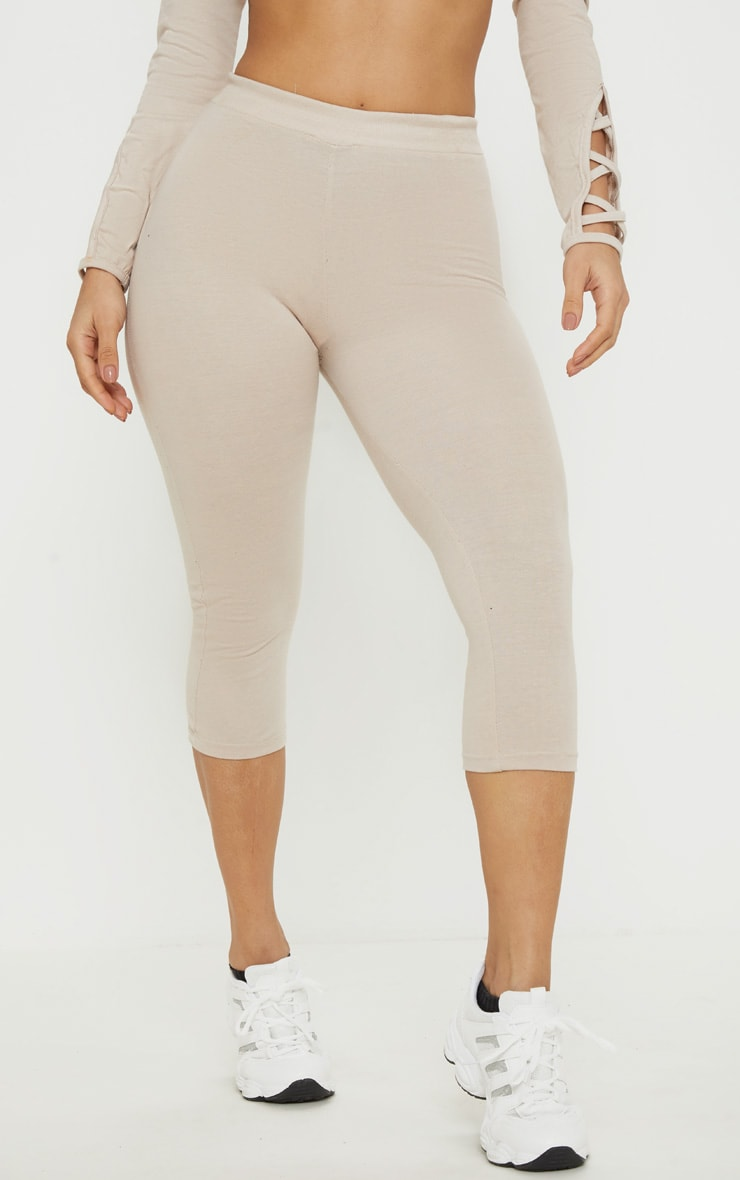 Oatmeal Marl Cropped Gym Legging 2