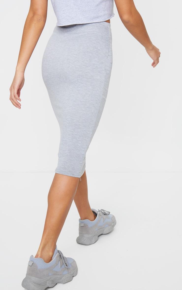Petite Grey Jersey Midi Skirt 3