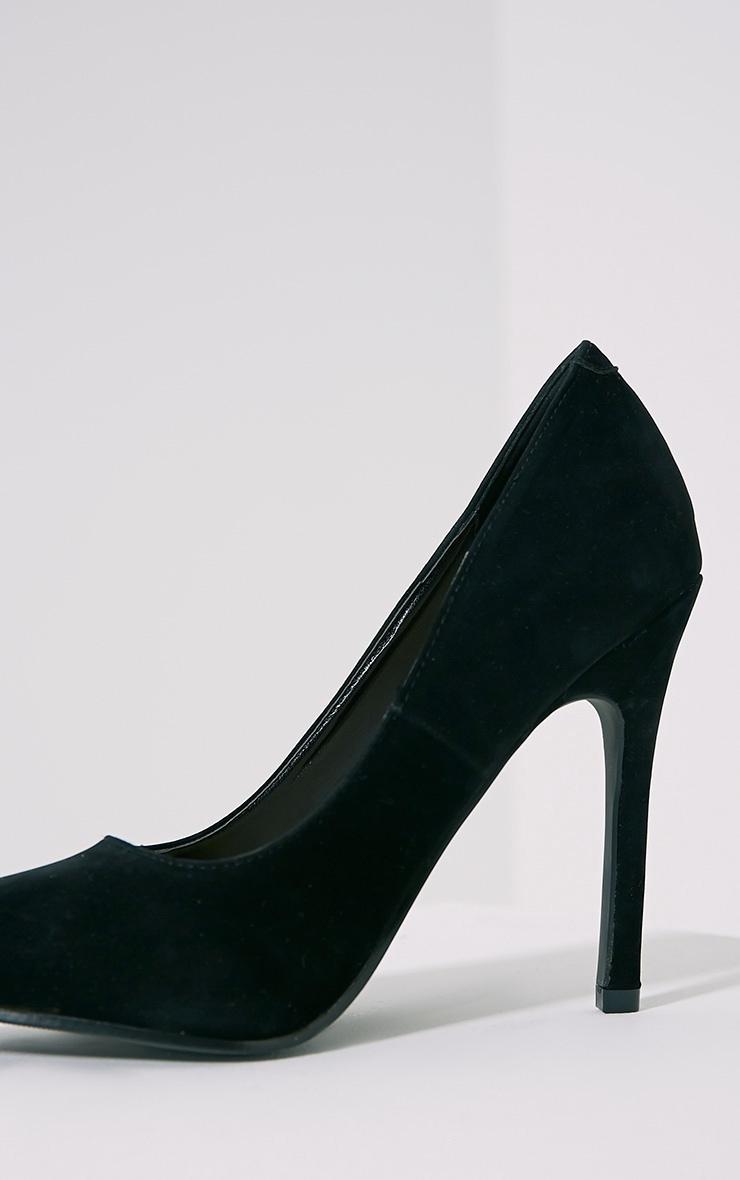 Magna Black Suede Court Shoes 6