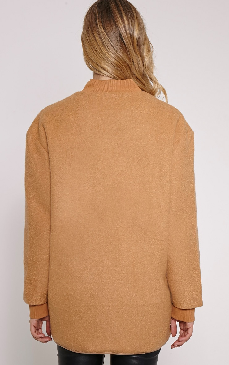 Alley Camel Longline Wool Bomber Jacket 2