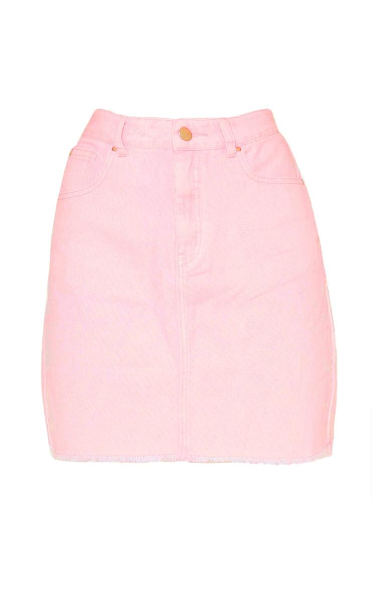Acid Pink Denim Skirt 3