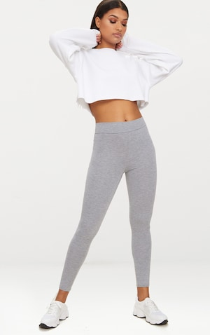 fc6234dbdb6 Dabria Grey High Waisted Jersey Leggings image 1 ...