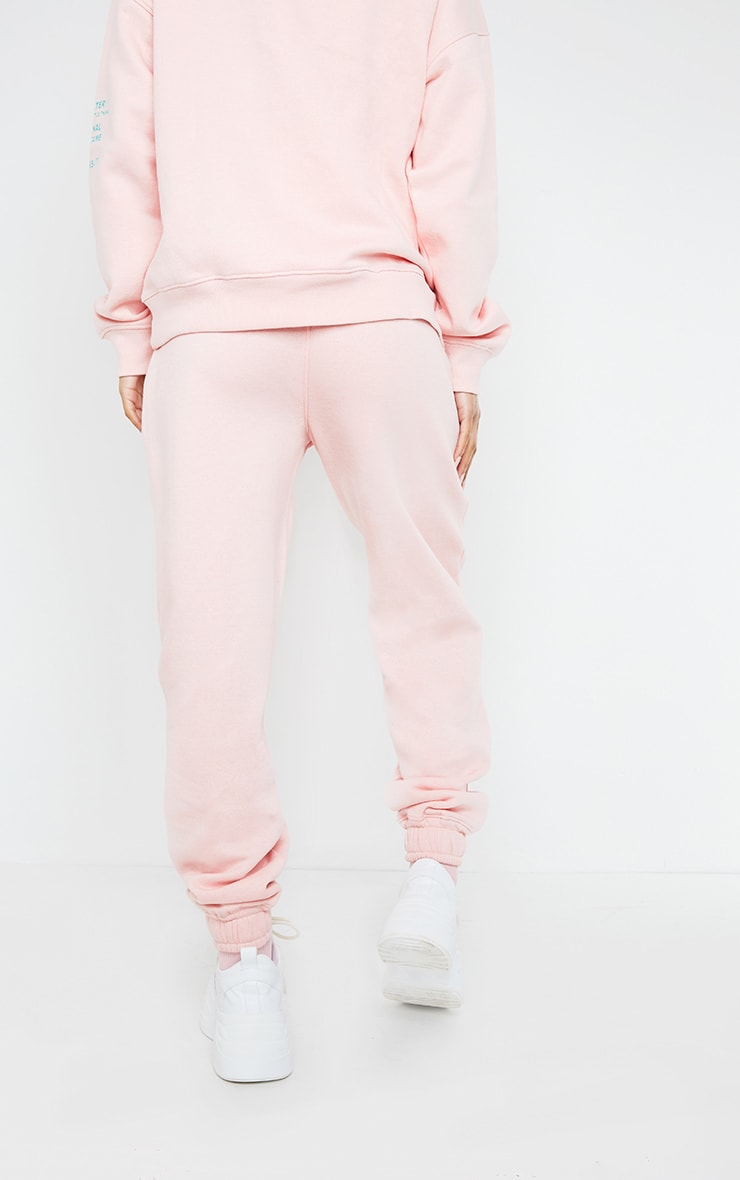 PRETTYLITTLETHING Light Pink Graphic Print Joggers 3