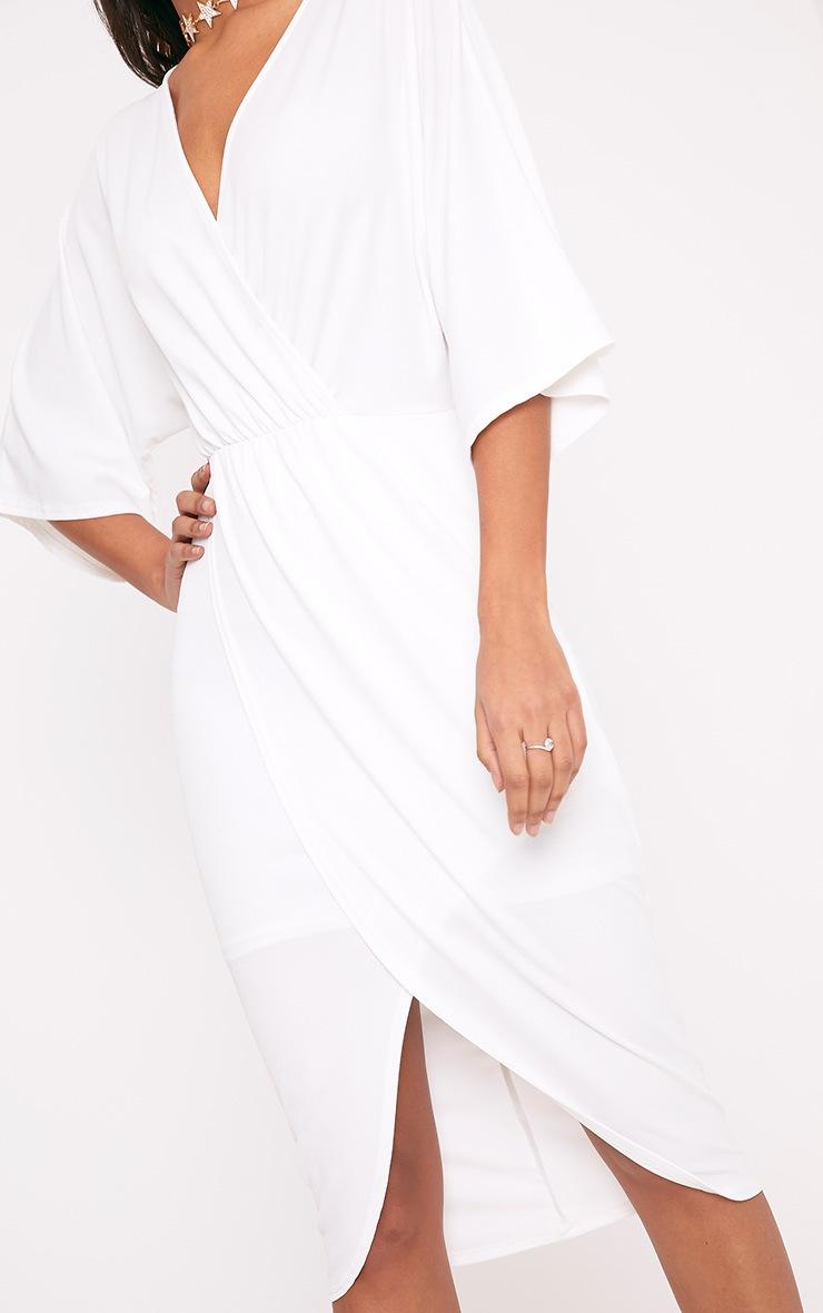 robe midi cape crème 5