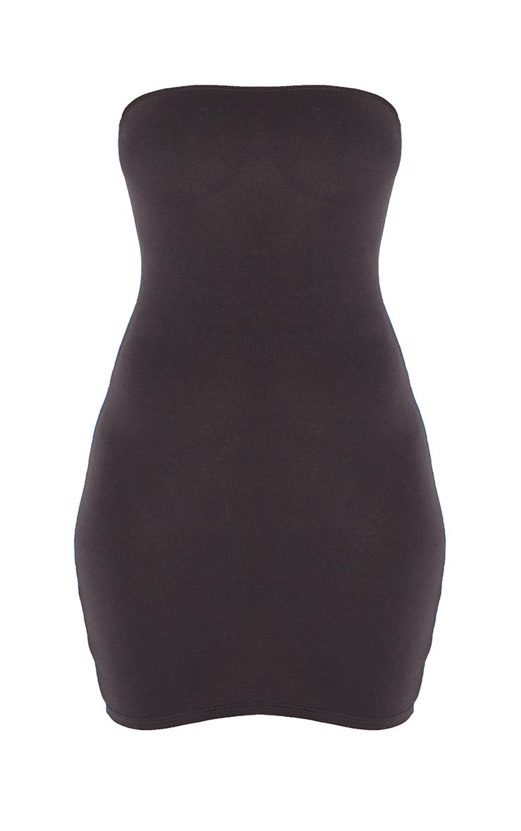 Black Jersey Bandeau Bodycon Dress 6