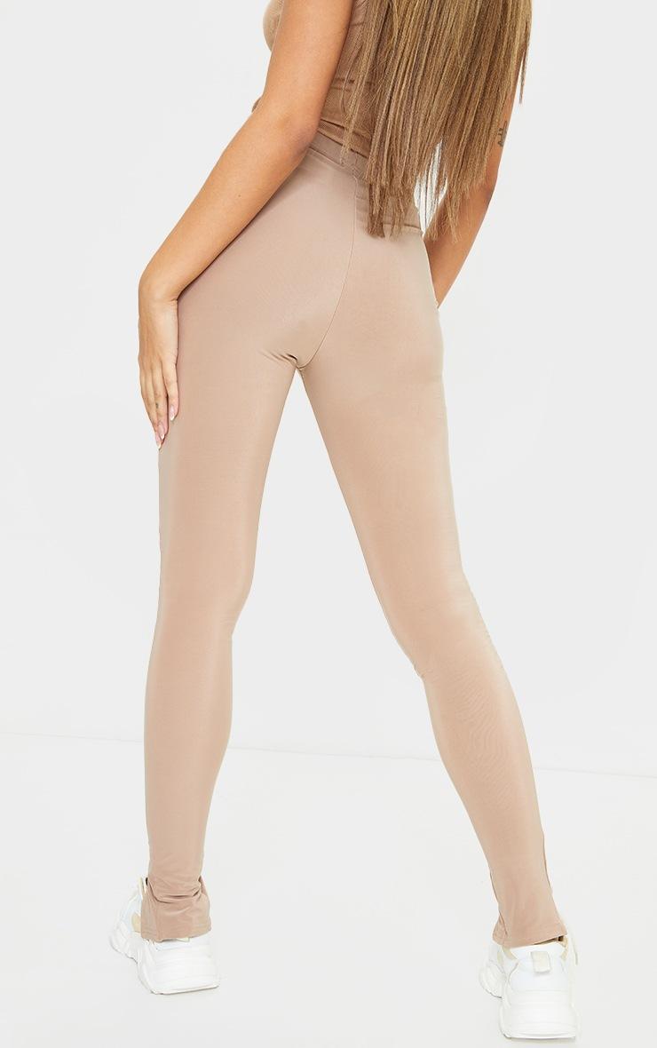 Stone Slinky Split Hem Leggings 3