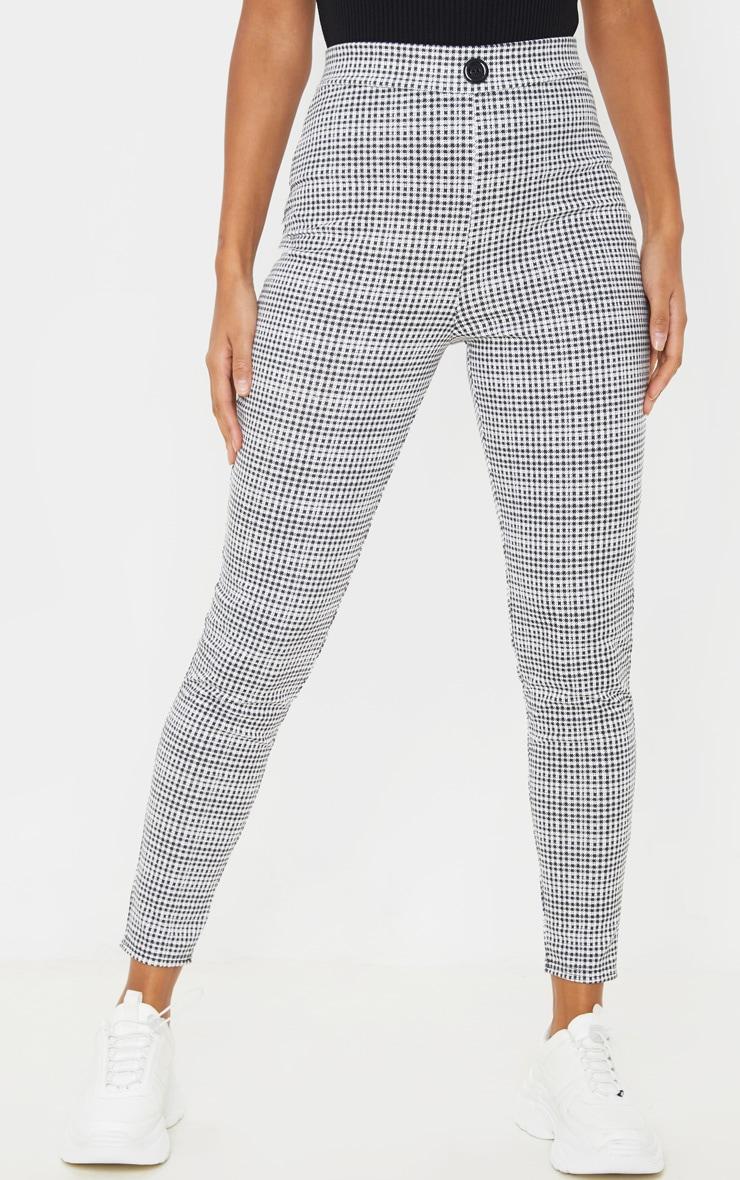 Black Checked Skinny Trouser  2