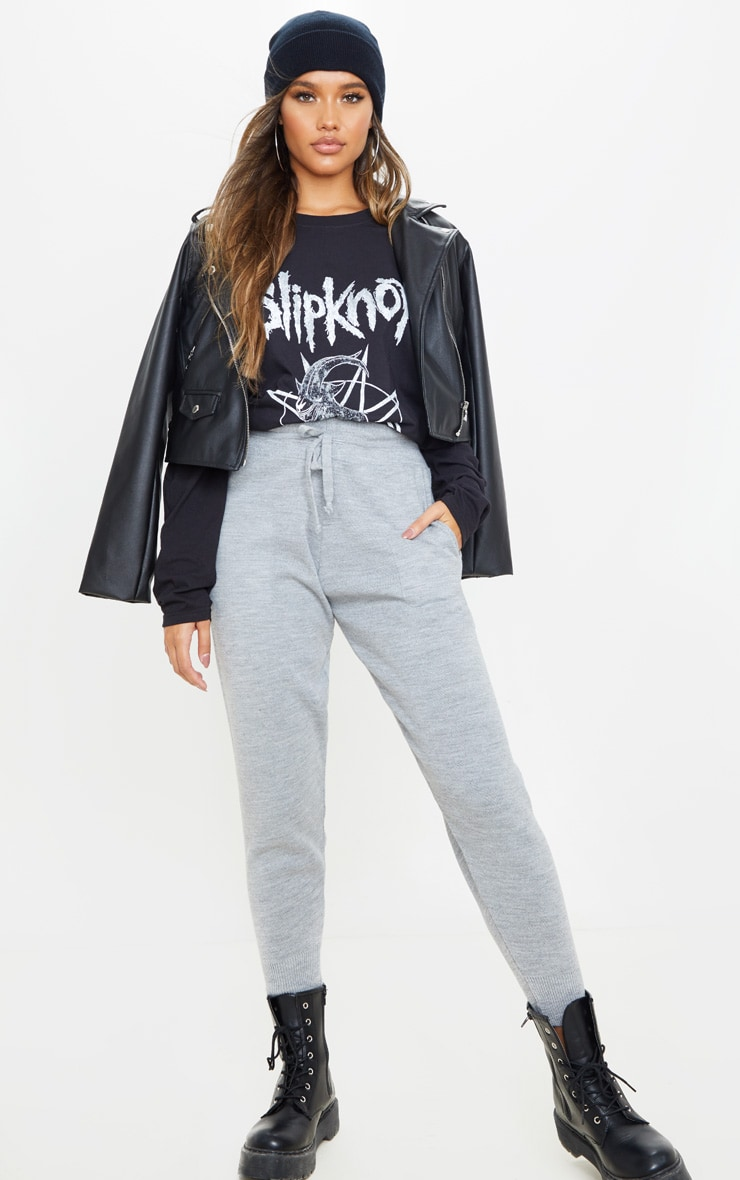 Black Slipknot Printed Long Sleeve T Shirt 4