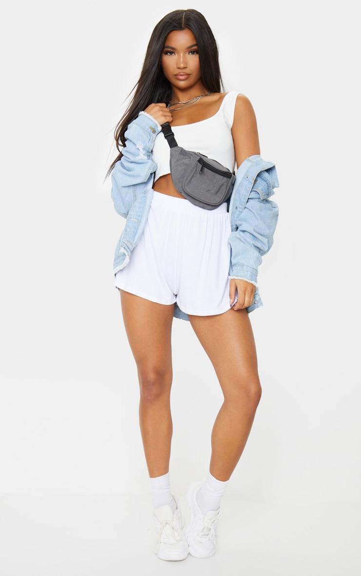 Lucilla White Jersey Floaty Shorts 2